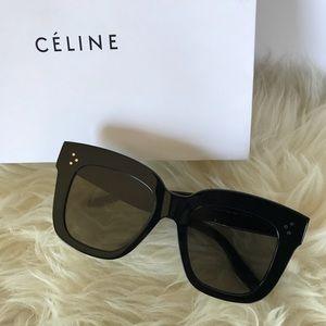 8f73c98f345 Celine Accessories - CELINE Kim Black Oversized Sunglasses CL 41444
